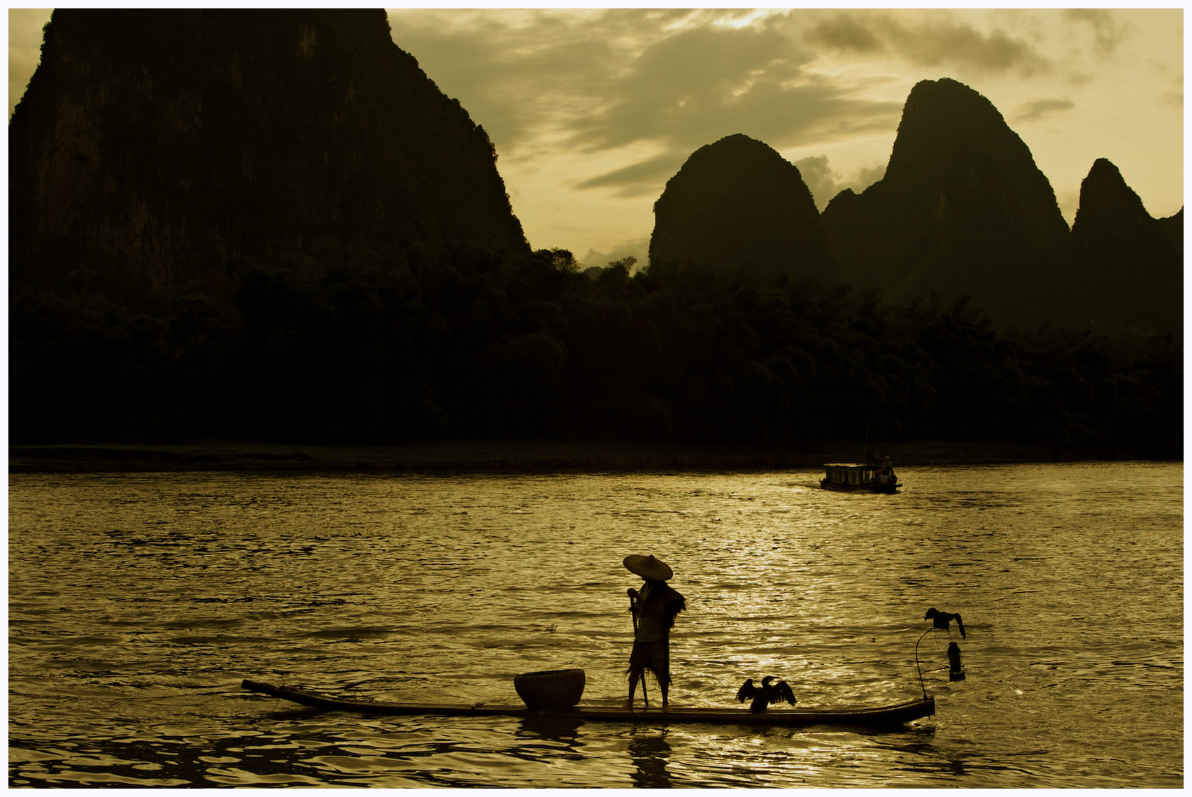 Cormorant Fisherman on the Li River near Yangshuo, China