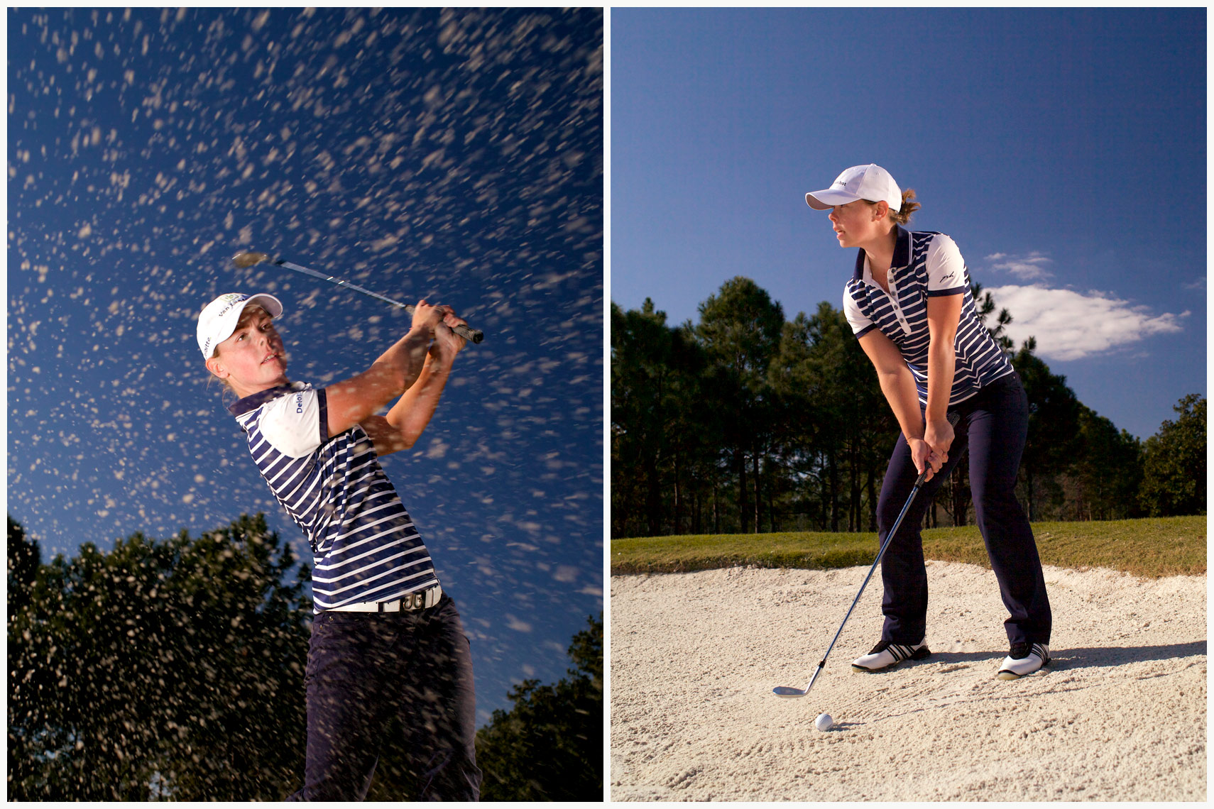 Christel Boeljon Location Portrait and Swing Sequence for Golfers Magazine