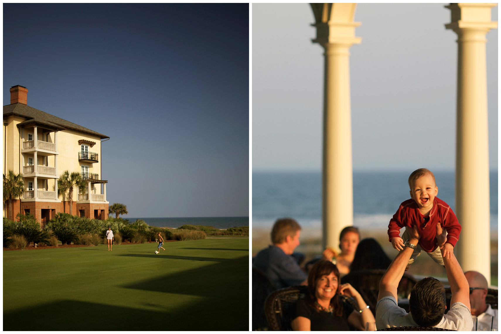 The Sanctuary and the Ocean Course clubhouse at the Kiawah Island Resort