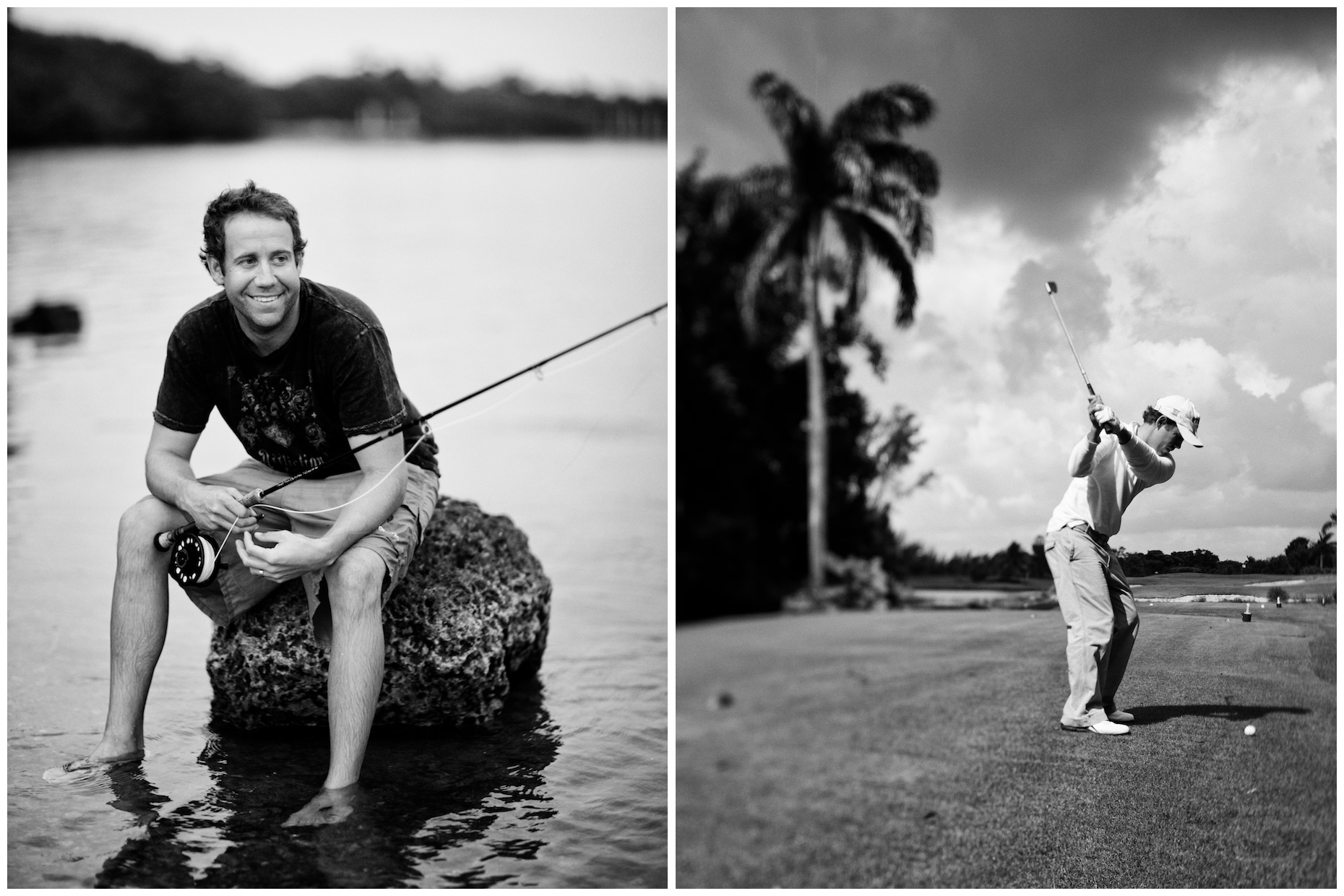 Erik Compton, photographed in Miami, Florida for Golf World magazine.