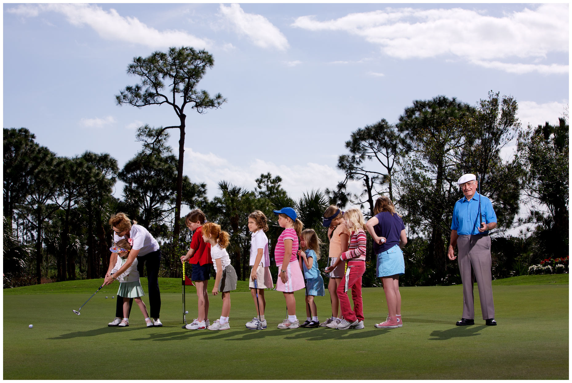 Errie Ball, photographed at the Willoughby Golf Club in Stuart, Florida for Golf Digest,
