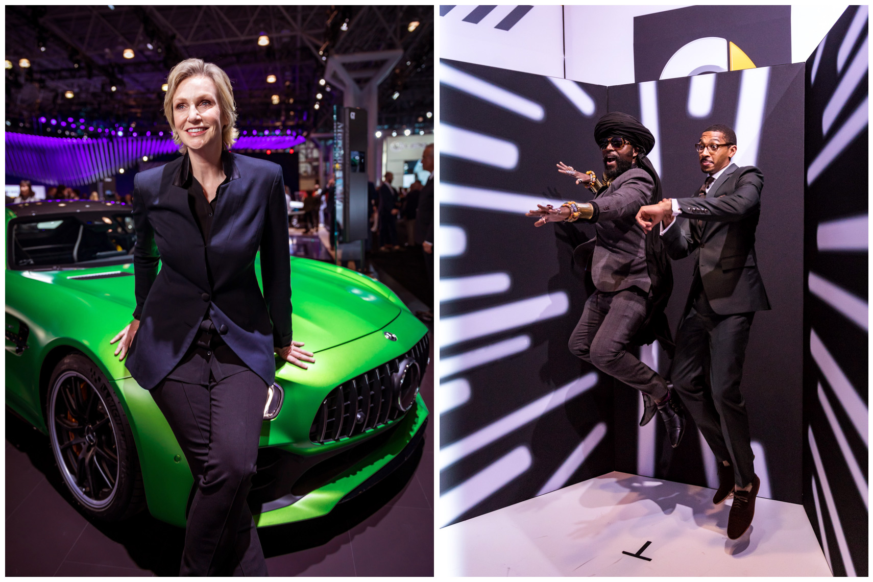 Jane Lynch at a Mercedes-Benz party at the New York auto show AMG GT R