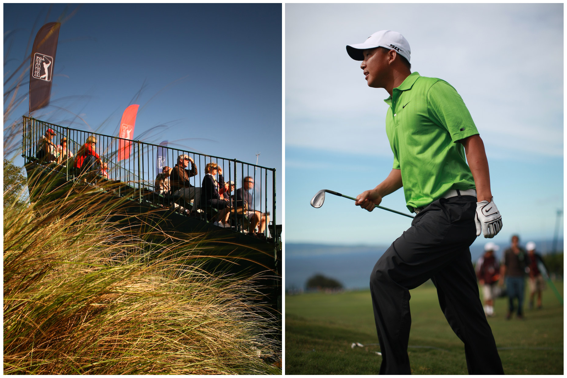 PGA tournaments, photographed for Golf World (left) and Mercedes-Benz USA.