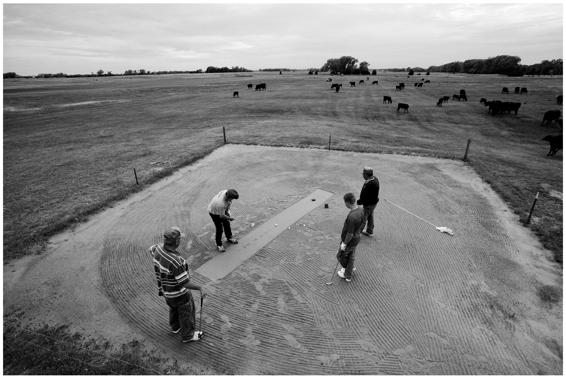 Dannebrog Country Club in Dannebrog, Nebraska. One of the last remaining sand green courses left in the United States.