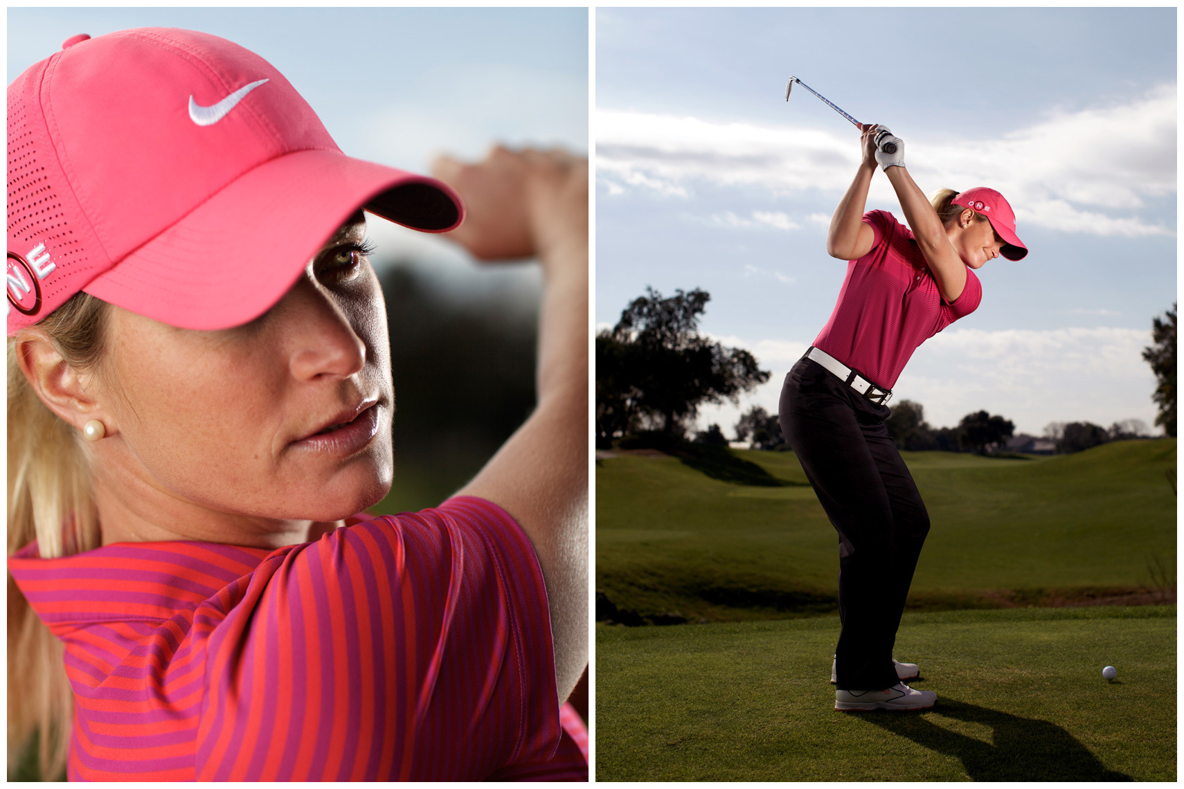 Suzann Pettersen Location Portrait and Swing Sequence for Golf DIgest