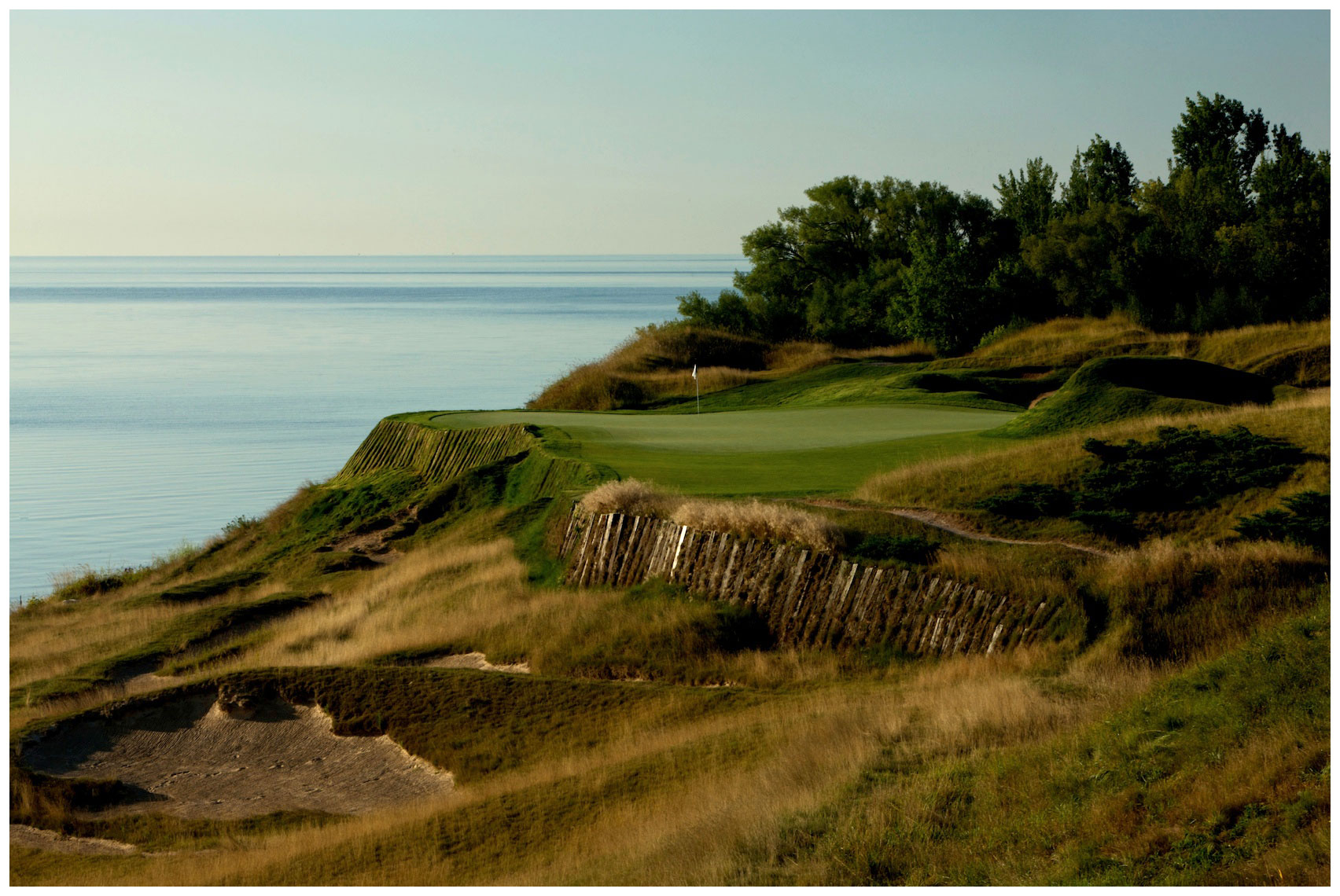 13th hole at Whistling Straits in Kohler, Wisconsin