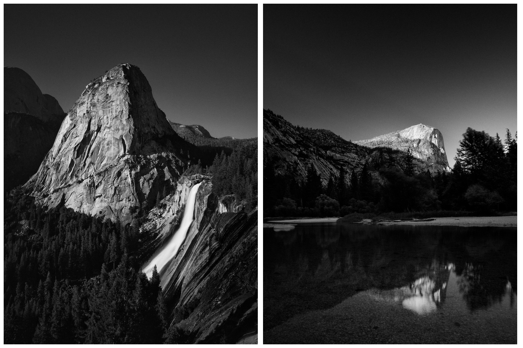 Liberty Cap and Nevada Fall | Mirror Lake and Mount Watkins | Yosemite NP
