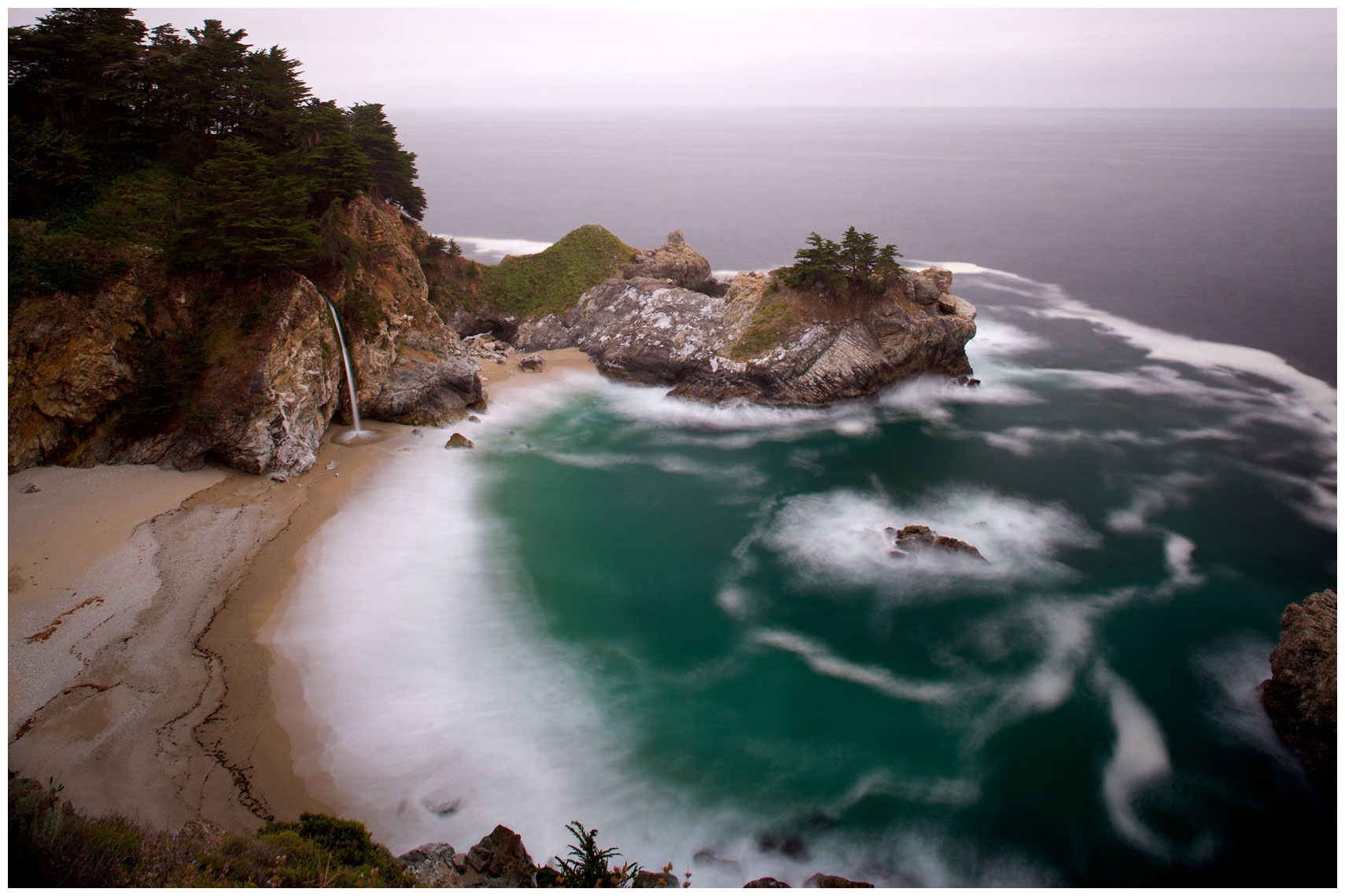 McWay Falls at Julia Pfeiffer Burns State Park in Big Sur, California