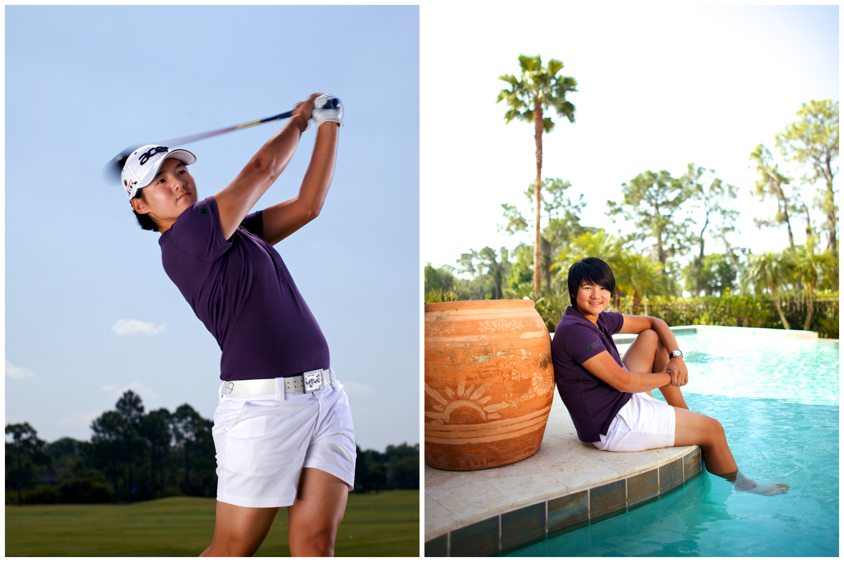 Yani Tseng Location Portrait and Swing Sequence for Svensk Golf